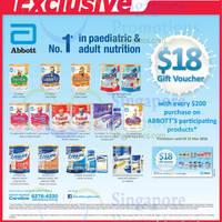 Read more about Abbott Milk Powders Spend $200 & Get Free $18 Voucher @ FairPrice 18 - 31 Mar 2016