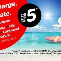 Read more about Air Asia fr $5* Promo Fares 28 Mar - 3 Apr 2016