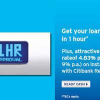 Read more about Citibank 4.83% p.a. Ready Credit Welcome Offer From 17 Mar 2016