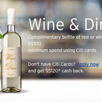 Read more about Citibank Free Bottle of Wine w/ $100 Spend From 20 Mar 2016