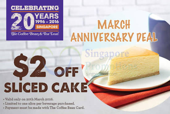Coffee Bean Tea Cake 15 Mar 2016
