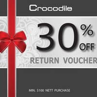 Read more about Crocodile Get 30% Off Return Voucher w/ $100 Spent 14 Mar - 30 Apr 2016
