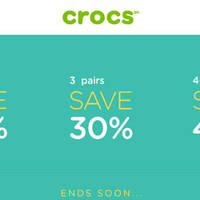 Read more about Crocs 20% to 40% Off Sitewide & Free Shipping 25 - 26 Mar 2016