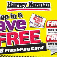 Read more about Harvey Norman Free $100 Nets FlashPay Card From 24 Mar 2016