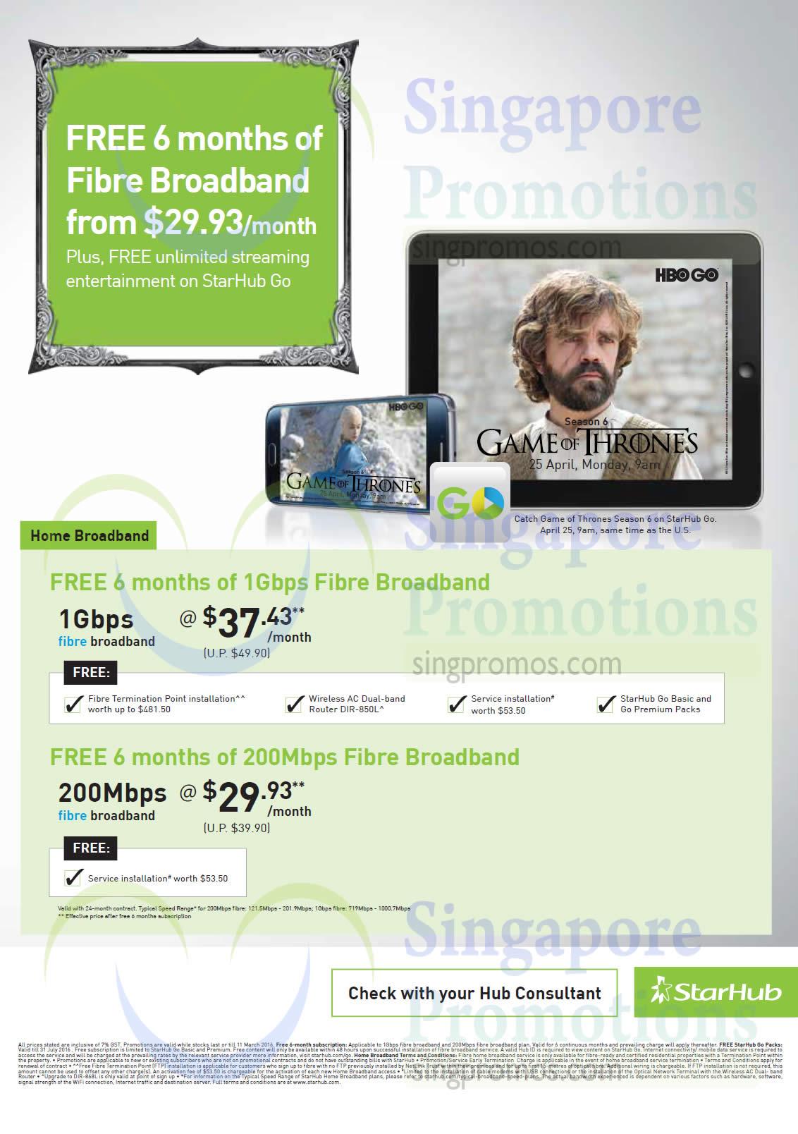 Home Broadband 37.43 1Gbps Fibre Broadband, 29.93 200Mbps Fibre Broadband