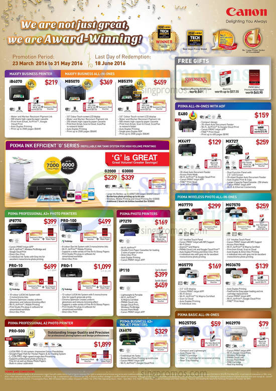 Inkjet Maxify, Pixma, Professional, Photo, Wireless, Business, A2