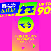 Read more about Lazada Free Shipping Storewide Birthday Promo 15 - 18 Mar 2016