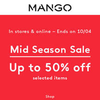 Read more about Mango Mid Season Sale 25 Mar - 10 Apr 2016