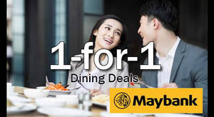 Indulge in 1-for-1 buffet deals and more with Maybank cards! Valid from 23 Mar – 30 Sep 2017
