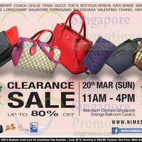Read more about Nimeshop Branded Handbags Sale @ Mandarin Orchard 20 Mar 2016