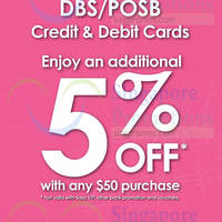 Read more about Sasa 5% Off for DBS/POSB Cardmembers 9 - 20 Mar 2016