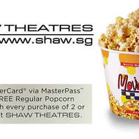 Read more about Shaw Theatres Free Popcorn Combo Set w/ MasterPass Payments 1 Jan - 31 Dec 2016