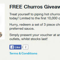 Read more about Singtel FREE Churros Giveaway For Customers From 10 - 23 Mar 2016
