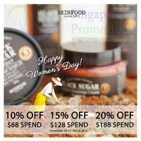 Read more about Skinfood 10% to 20% Off With Min $68 Spend 9 - 31 Mar 2016