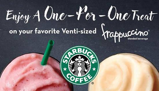 Starbucks 1 for 1 16 Mar 2016