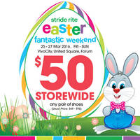 Read more about Stride Rite Easter Weekend Storewide Sale 25 - 27 Mar 2016