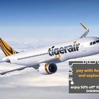 Read more about Tigerair 50% off Flexicombo Fares For AMEX Cardmembers 28 Mar - 3 Apr 2016