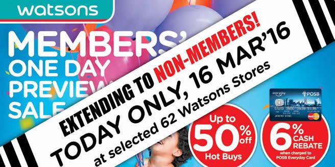 Watsons New Feat 16 Mar 2016