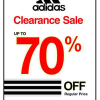 Sportslink is having a adidas clearance sale at 25 outlets at discounts of up to 70% off