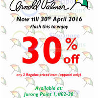 Read more about Arnold Palmer 30% Off Apparel Coupon 18 - 30 Apr 2016