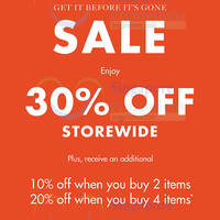 Read more about Banana Republic Storewide 30% Off from 22 Apr 2016