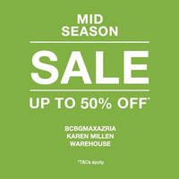 Read more about Bcbgmaxazria, Karen Millen, Warehouse Mid Season Sale From 21 Apr 2016