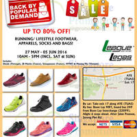 Berca International will be having a Warehouse Sale from 27 May to 5 June 2016. Enjoy massive discounts up to 80% off running & lifestyle footwear, apparels and accessories on brands like League, Legas, Dkode, JB Martin and more