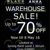 Read more about Black Hammer & Anna Black Warehouse Sale at Jurong Point from 25 Apr - 8 May 2016