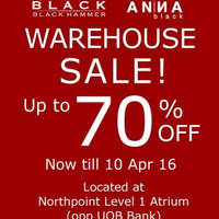 Read more about Black Hammer & Anna Black Warehouse Sale @ Northpoint 4 - 10 Apr 2016