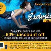 Read more about Bods.bodynits 60% Off plus 10% off Final Bill Promo 25 Apr - 1 May 2016