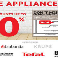 Grab a wide range of European home appliances at up to 70% off at the branded sale from 28 Apr to 2 May at L&Y Building. Brands include Bodum, Tefal, Rowenta, Umbra and more