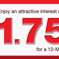 Grow your savings with CIMB! Sign up for a CIMB 12-Month SGD Fixed Deposit and enjoy up to 1.75% p.a.* with just a minimum placement amount of S$20,000