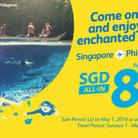Come on over and enjoy this enchanted river! For as low as $85 all-in from Singapore to Philippines