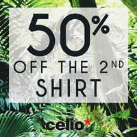 Read more about Celio* 50% Off 2nd Shirt Promotion 7 - 26 Apr 2016
