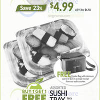 Enjoy 1-for-1 on Sushi Tray, 23% off USA Driscoll's Strawberries, 30% off Wall's Cornetto Mini Ice Cream and more at Cold Storage from 28 Apr to 1 May 2016
