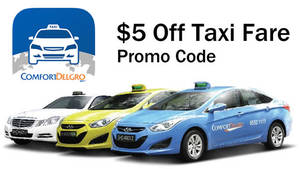 Save $5 off a taxi ride with Comfort Delgro's newest promo code valid from 7 – 8 Dec 2016