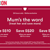 Read more about Cotton On $10 to $30 Off Storewide Women, Kids, Body, Typo, Rubi & More 24hr Promo on 26 Apr 2016