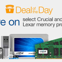 Read more about Crucial & Lexar Up To 70% Off 24hr Deal 11 - 12 Apr 2016