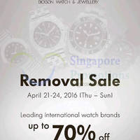 Read more about Dickson Watch & Jewellery Removal Sale at Suntec 21 - 24 Apr 2016