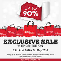 Epicentre is having an exclusive sale at their ION Orchard outlet #B3-14 with discounts of up to 90% off