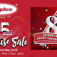 Europace will be having a Warehouse Clearance Sales promotion from 29 April to 2 May 2016. Enjoy up to 80% discount off home appliances. Check out purchase with purchase specials with min $250 spend