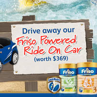 Read more about Friso Spend $380 & Get Free Powered Ride-on Car worth $369 from 1 Apr - 31 May 2016
