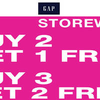 Read more about Gap Storewide Buy 2 Get 1 Free & Buy 3 Get 2 Free Promo 22 - 24 Apr 2016