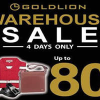 Goldlion will be having a 4-days only warehouse sale from 5 - 8 May 2016 (Thurs - Sun) with discounts of up to 80% off