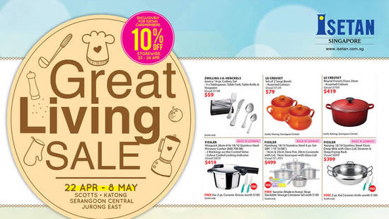 Isetan Great Living Feat 22 Apr 2016