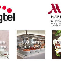 Enjoy dining deals such as $20 English Afternoon tea, $39 buffet (usual $59) and 15% off total à la carte food bill at Singapore Marriott Tang Plaza Hotel if you are a Singtel customer