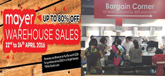 Mayer Warehouse Sale Feat 18 Apr 2016