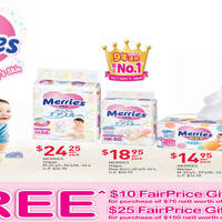 Read more about Merries Free $10 to $25 Fairprice Vouchers Promo from 15 - 30 Apr 2016