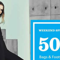 New Look is kicking off the long weekend with 50% OFF all regular priced Bags & Footwear