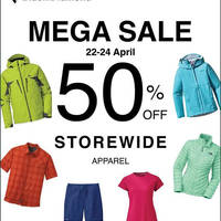 Read more about Outdoor Life Storewide 50% Off Apparels from 22 - 24 Apr 2016